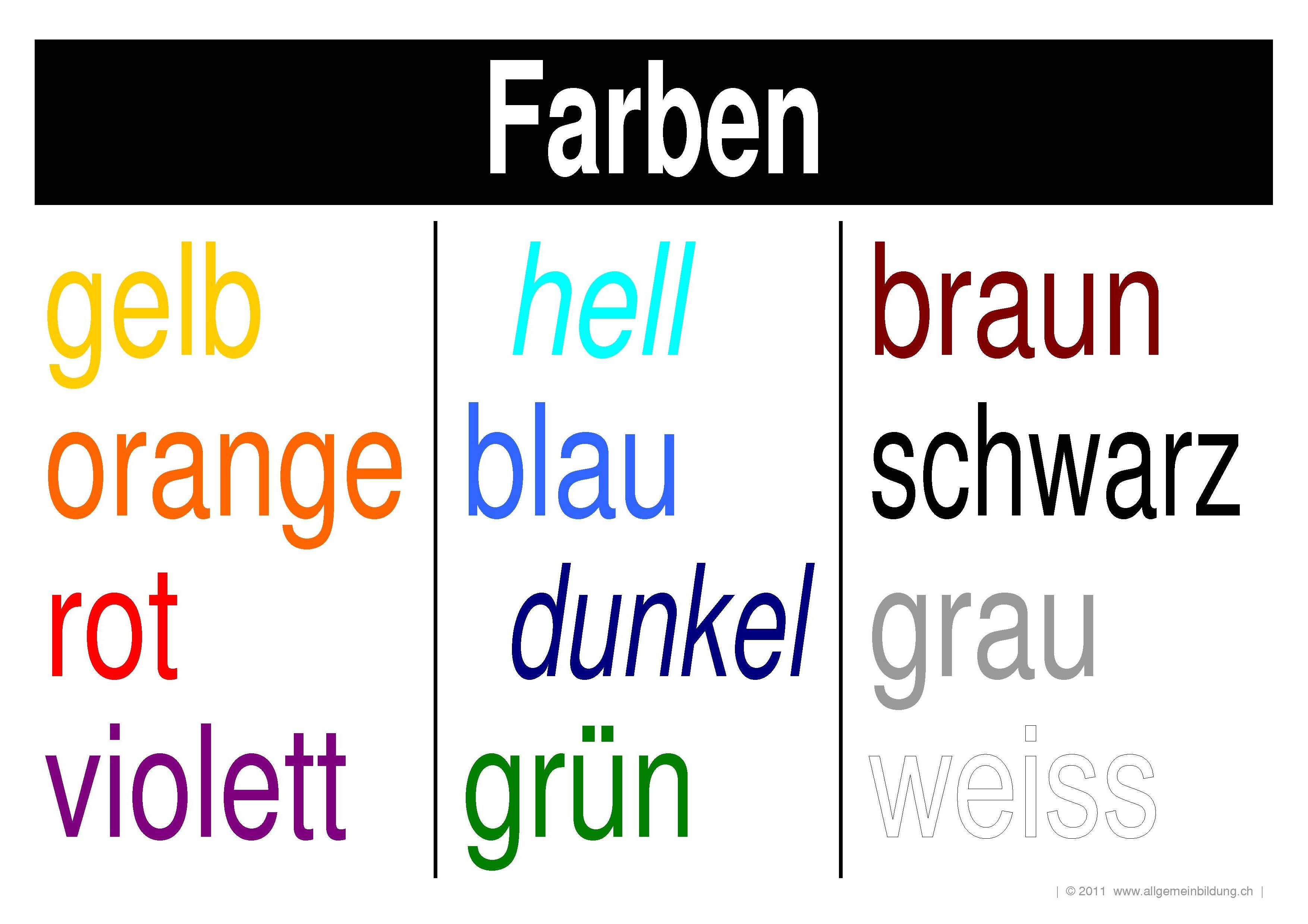 Englisch vokabeln farben verlosung 4834041 - memorables.info
