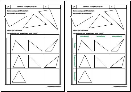 mathematik geometrie arbeitsblatt arten von dreiecken 8500 bungen arbeitsbl tter r tsel. Black Bedroom Furniture Sets. Home Design Ideas