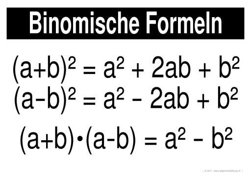 mathematik geometrie lernplakate wissensposter binomische formeln 8500 bungen. Black Bedroom Furniture Sets. Home Design Ideas