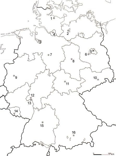 Stumme Karte Deutschland Bundesländer.Beaches Deutschlandkarte Mit Bundesländer Und Hauptstädte